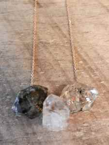 herkimer 3 on rose chain